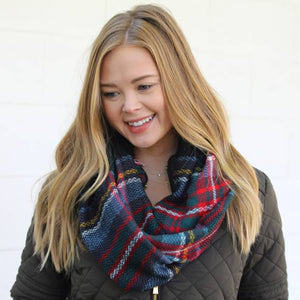 Black Multi-Color Cozy Infinity Scarf