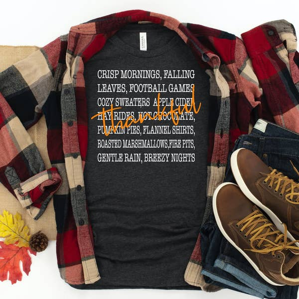 PREORDER Thankful Words Fall Boutique Soft Tee