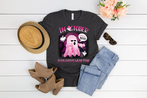 PREORDER - Even Ghosts Wear Pink Breast Cancer Awareness Boutique Soft Tee