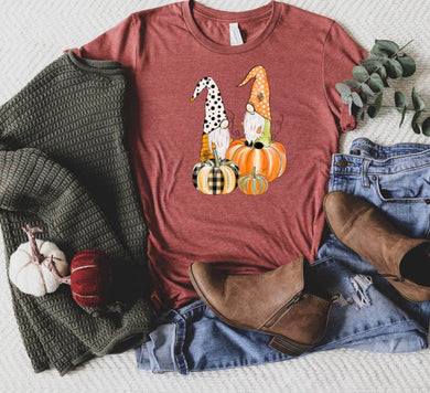 PREORDER - Fall Gnomes & Pumpkins Boutique Soft Tee