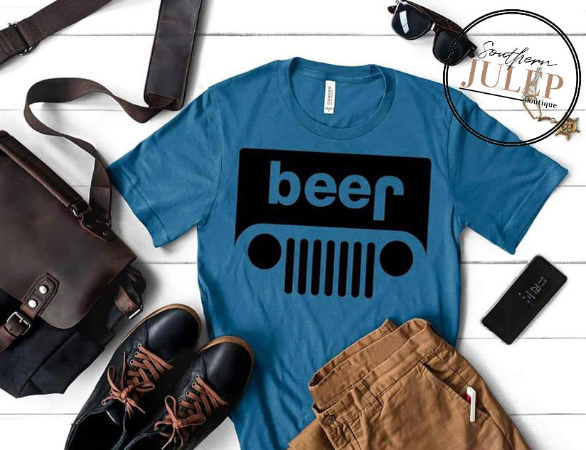 Beer Jeep SS Boutique Tee - Custom Printed Preorder Tees