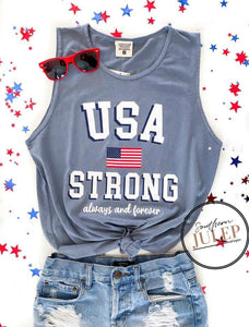NEW - USA Strong Always & Forever Soft Tank - PREORDER