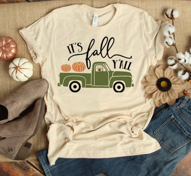 PREORDER - It's Fall Y'all Pumpkin Truck Boutique Soft Tee