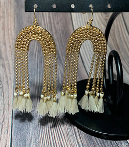Eleanor Drop Earrings - Ivory