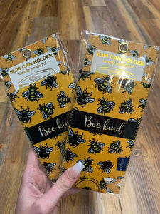 Simply Southern - Slim Can Koozie/Holder - Bee Kind