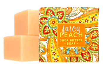 1.9oz Wrap Mini Soap Bar - Juicy Peach