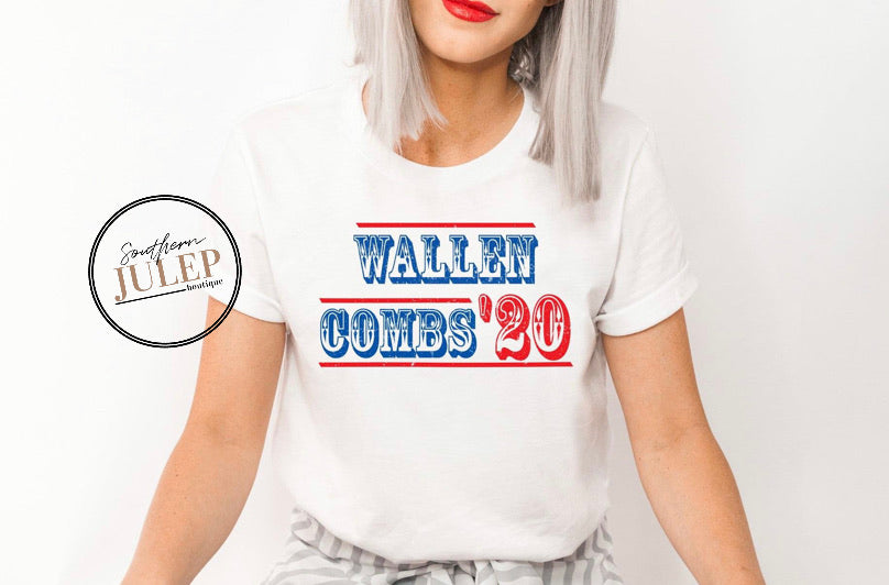 Wallen Combs 20 SS Boutique Tee - Custom Printed Preorder Tees