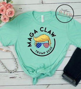 MAGA CLAW TRUMP 2020 SS Boutique Tee - Custom Printed Preorder Tees