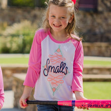 Load image into Gallery viewer, Smalls Raglan Baseball Girls Youth Tee