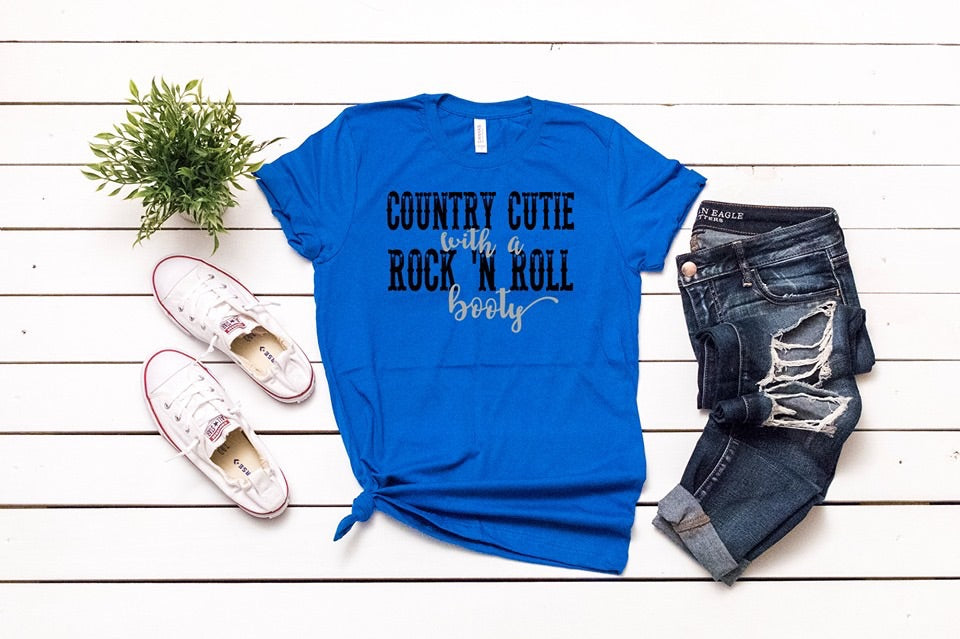 Southern Julep Country Cutie With a Rock n Roll Booty Soft Tee