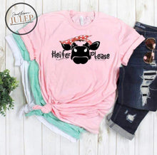 Load image into Gallery viewer, Heifer Please Bandana Cow SS Boutique Tee - Custom Printed Preorder Tees