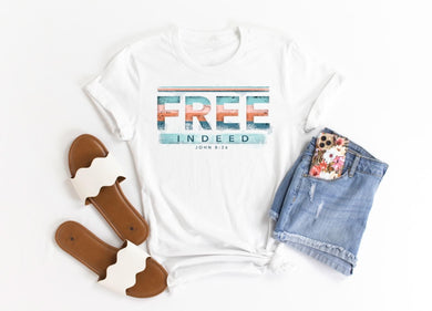 PREORDER - Free Indeed John 8:36 Christian Boutique Soft Tee