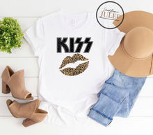 Load image into Gallery viewer, KISS Leopard Lips (1) SS Boutique Tee - Custom Printed Preorder Tees