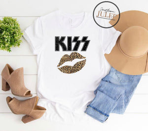 KISS Leopard Lips (1) SS Boutique Tee - Custom Printed Preorder Tees