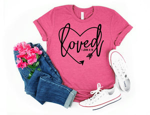PREORDER - Loved 1 John 4:19 Valentine's Boutique Soft Tee