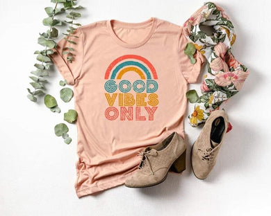 PREORDER - Good Vibes Only Rainbow Boutique Soft Tee