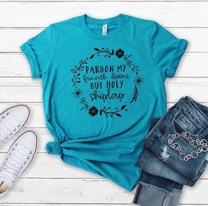 Southern Julep Pardon My French Doors, But Holy Shiplap Graphic Soft Tee