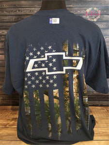 Chevy Camo American Flag Chevrolet Men's T-Shirt