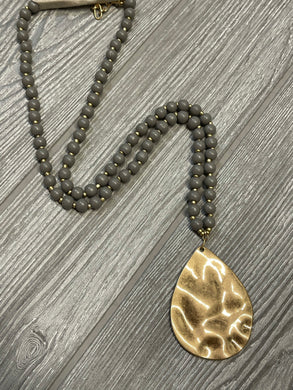 The Bria Necklace - Grey