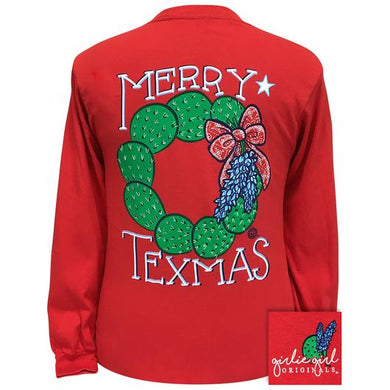 PREORDER - Merry Texmas Long Sleeve T-Shirt by Girlie Girl Originals