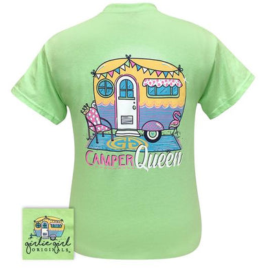 PREORDER - Vintage Camper Queen Short Sleeve Tee by Girlie Girl Originals