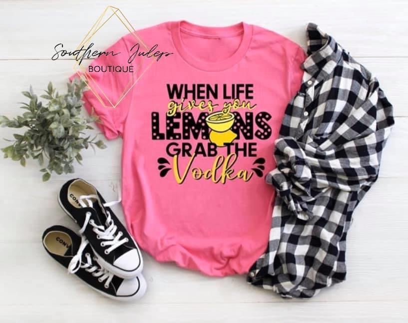 When Life Gives You Lemons Design On Boutique Tank Top - Custom Printed Preorder Tees