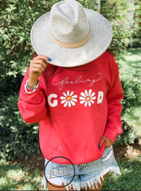 Feeling Good Sweatshirt - Paprika