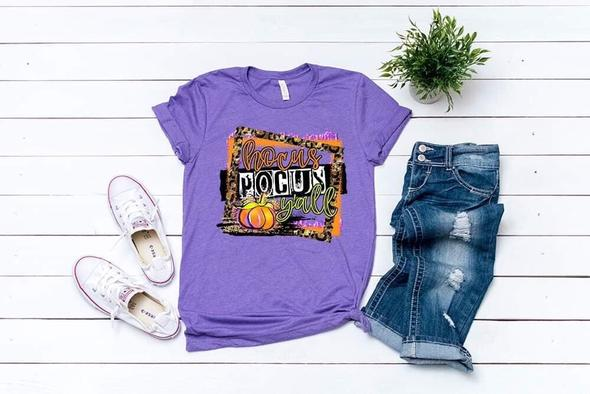 PREORDER-Hocus Pocus Y'all Halloween SS Boutique Soft Tee