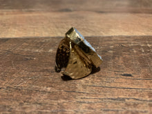 Load image into Gallery viewer, Ice Blue Druzy Boho Hammered Gold Ring