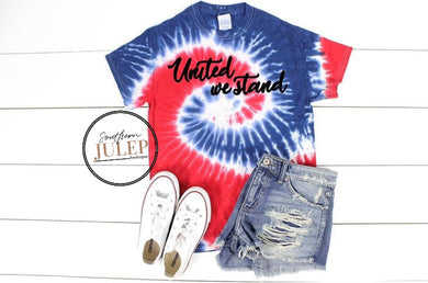 Southern Julep - United We Stand Tie Dye Boutique Tee - Custom Printed Preorder Tees