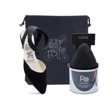 Load image into Gallery viewer, Rollasole Firefly Foldable Black Flats