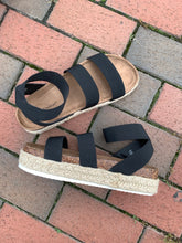 Load image into Gallery viewer, Pierre Dumas Black Mesa Platform Ankle Strap Sandals - In Stock Now
