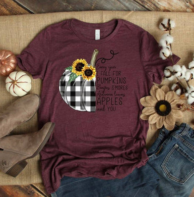 PREORDER - Every Year I Fall For Pumpkins Boutique Soft Tee