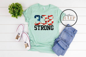 Area Code 336 STRONG Mint SS Boutique Tee - Custom Printed Preorder Tees