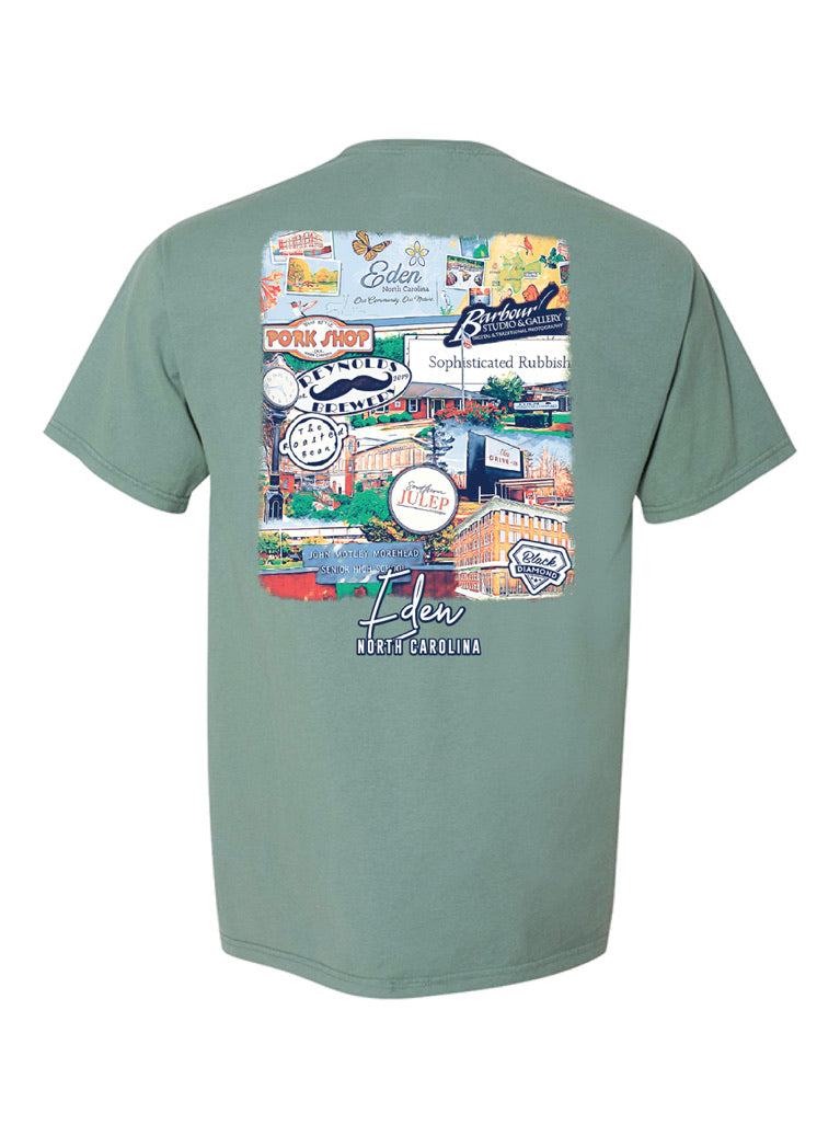 Eden, NC Landmark Tee - Cypress Green