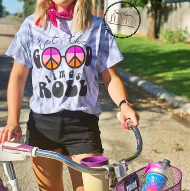 Let the Good Times Roll Tie Dye Tee - PREORDER