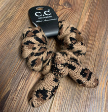 Load image into Gallery viewer, CC Leopard Bow Scrunchie