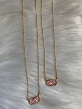 Load image into Gallery viewer, Glitter Dainty Necklace - Pink