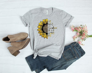 Southern Julep I've Got Sunshine on a Cloudy Day - Sunflower Leopard Print Graphic Soft Tee