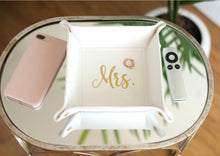 Load image into Gallery viewer, Creme Mrs. Bride Trinket Tray