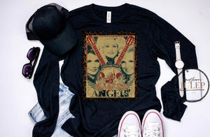 Honky Tonk Angels Loretta, Dolly, Tammy SS Tee - Custom Printed Preorder Tees