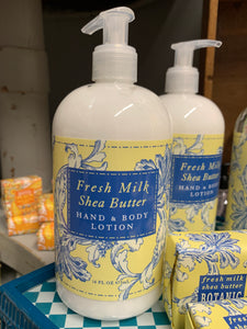 Fresh Milk Shea Butter 16 oz Spa Hand & Body Lotion