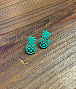 Pineapple Studs Earrings - Mint