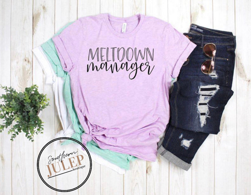 Meltdown Manager SS Boutique Tee - Custom Printed Preorder Tees
