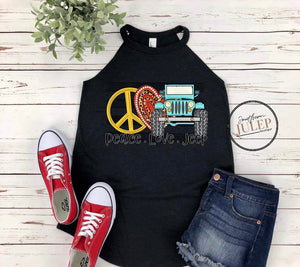 Peace Love Jeep Boutique Tank Top - Custom Printed Preorder Tees