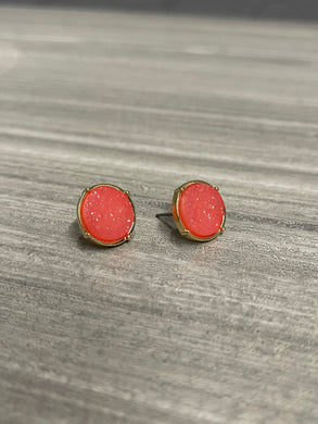 The Mina Stud Earrings - Pink