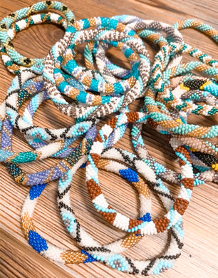 Nepal Beaded Roll On Bracelets