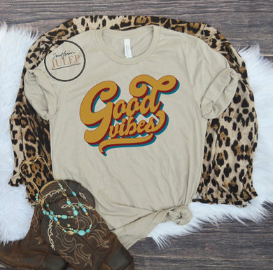 Retro Good Vibes Boutique Tee - Custom Printed Preorder Tees