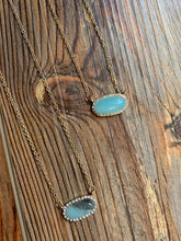 Load image into Gallery viewer, Stone Inspired Dainty Necklace - Mint