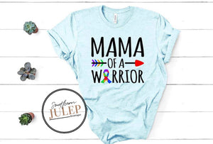 Mama Of A Warrior Autism SS Boutique Tee - Custom Printed Preorder Tees